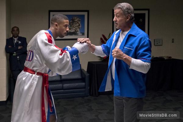 Creed II - Publicity still of Michael B. Jordan & Sylvester Stallone