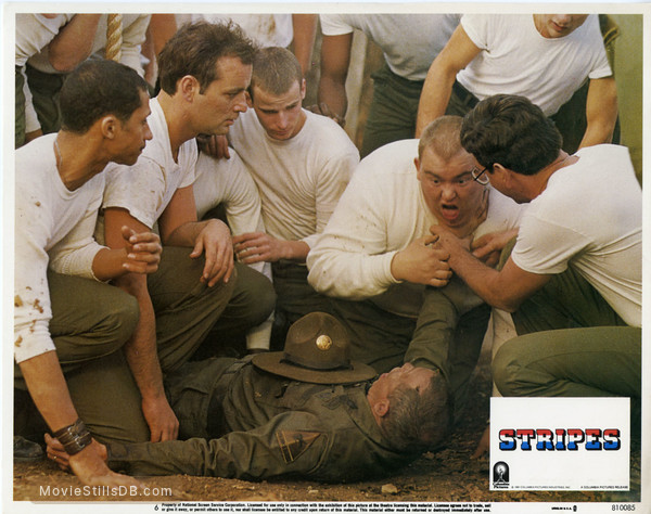 Stripes - Lobby card with Antone Pagan, Bill Murray, Warren Oates, John Candy & Harold Ramis