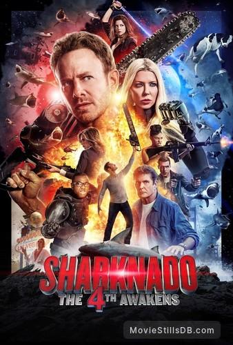 Sharknado 4: The 4th Awakens - Promotional art with Ian Ziering, Tara Reid, Masiela Lusha & David Hasselhoff