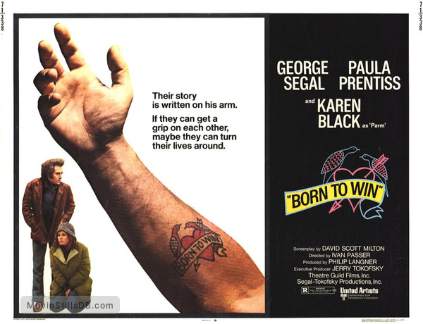 Born to Win - Lobby card with George Segal & Karen Black