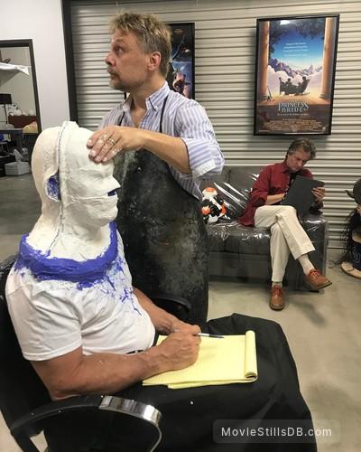 Deadpool 2 - Behind the scenes photo of Josh Brolin, Bill Corso & Mike Smithson