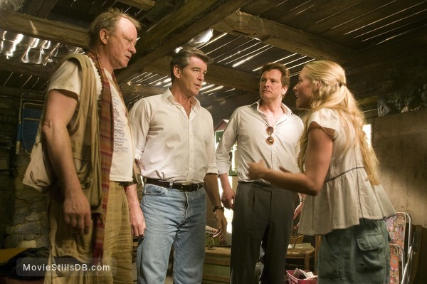 Mamma Mia! - Publicity still of Amanda Seyfried, Colin Firth, Pierce Brosnan & Stellan Skarsgård