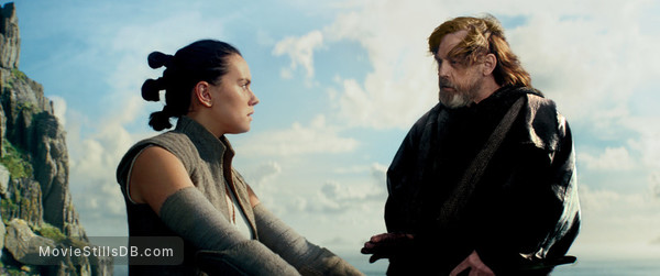 Star Wars: The Last Jedi - Publicity still of Daisy Ridley & Mark Hamill