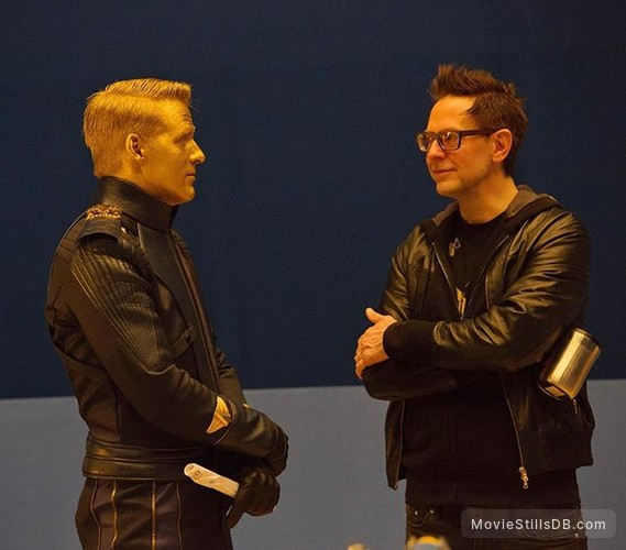 Guardians of the Galaxy Vol. 2 - Behind the scenes photo of Ben Browder & James Gunn