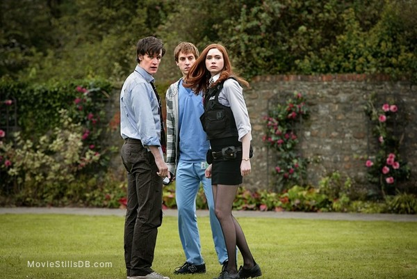 Doctor Who - Publicity still of Matt Smith, Karen Gillan & Arthur Darvill