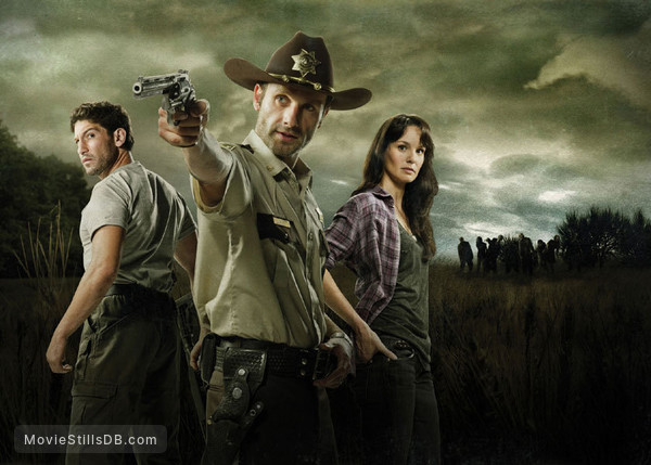 The Walking Dead - Promo shot of Sarah Wayne Callies, Jon Bernthal & Andrew Lincoln