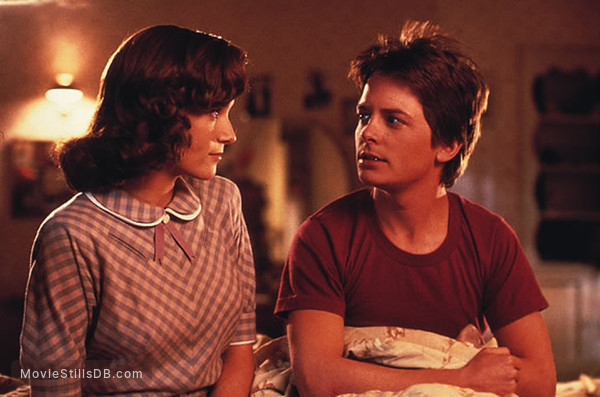 Back to the Future - Publicity still of Michael J. Fox & Lea Thompson