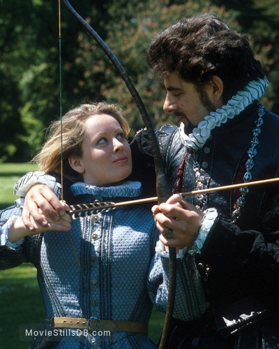 The Black Adder - Promo shot of Rowan Atkinson & Gabrielle Glaister