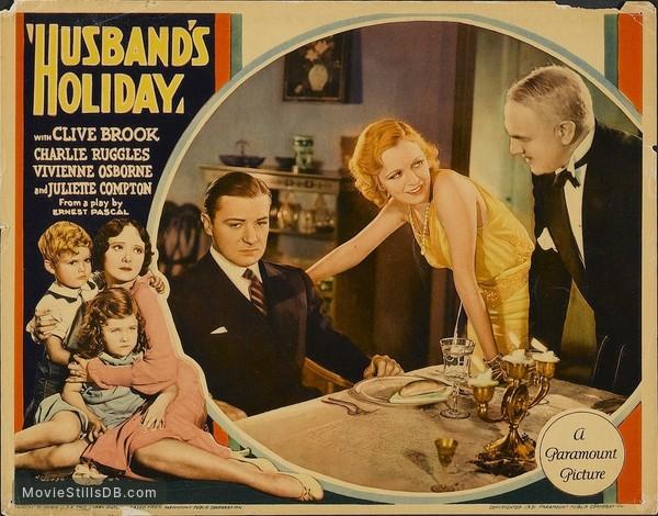 Husband's Holiday - Lobby card