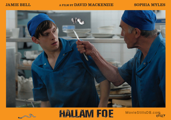 Hallam Foe - Lobby card with Jamie Bell & Maurice Roeves