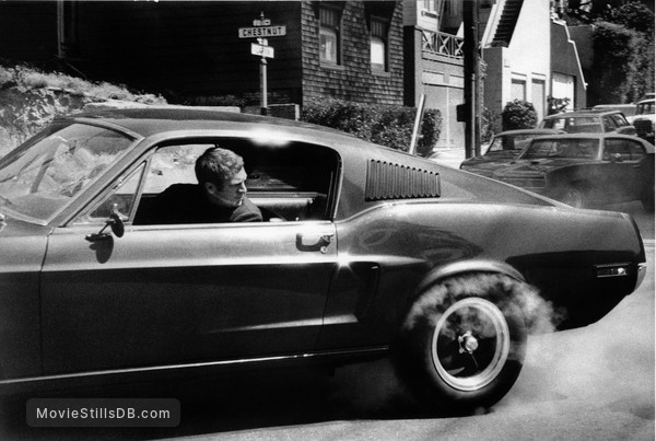 Bullitt - Behind the scenes photo of Steve McQueen