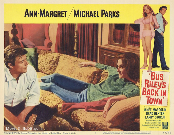 Bus Riley's Back in Town - Lobby card with Ann-Margret, Michael Parks & Janet Margolin