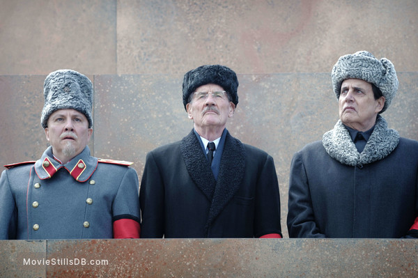 The Death of Stalin - Publicity still of Paul Chahidi, Michael Palin & Jeffrey Tambor