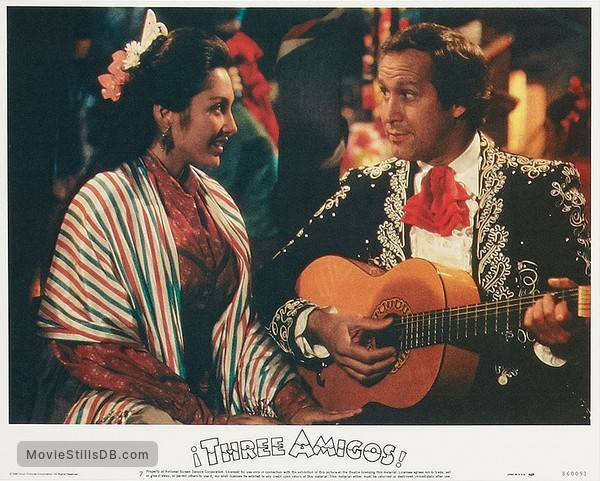 ¡Three Amigos! - Lobby card with Chevy Chase & Patrice Martinez