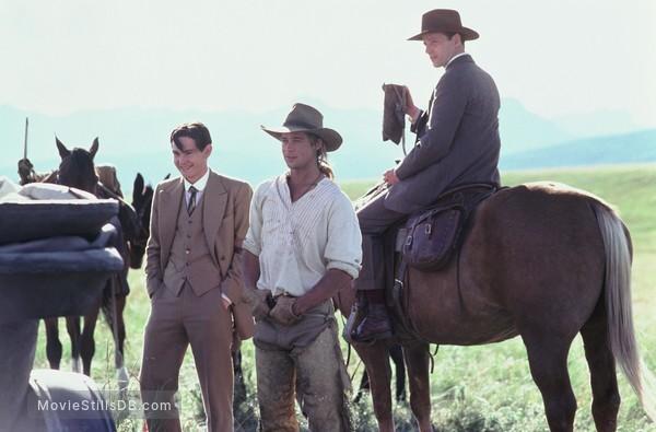 Legends Of The Fall - Publicity still of Brad Pitt, Henry Thomas & Aidan Quinn