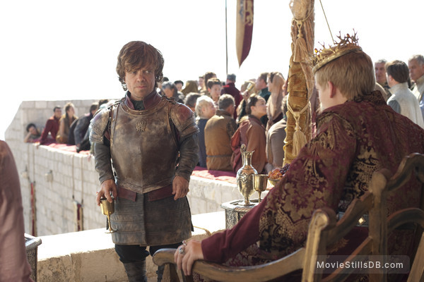Game of Thrones - Publicity still of Peter Dinklage & Jack Gleeson
