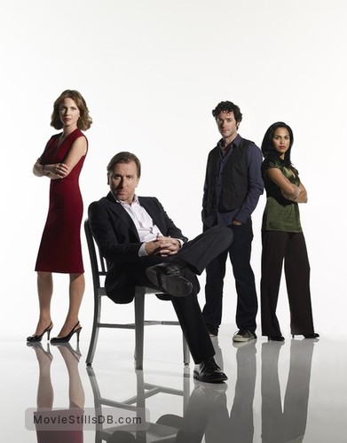 Lie to Me - Promo shot of Tim Roth, Kelli Williams, Brendan Hines & Monica Raymund