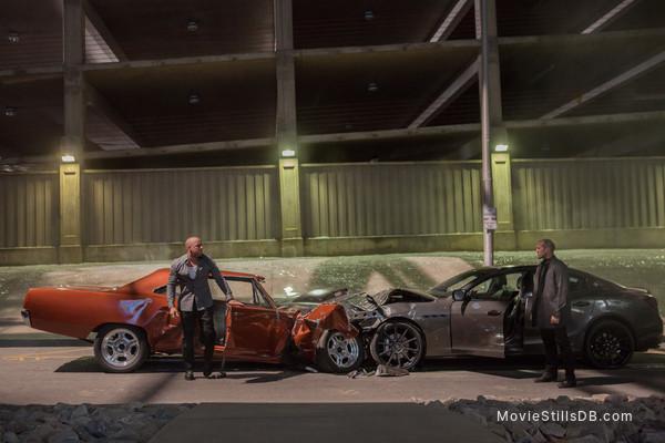 Furious 7 - Publicity still of Vin Diesel & Jason Statham