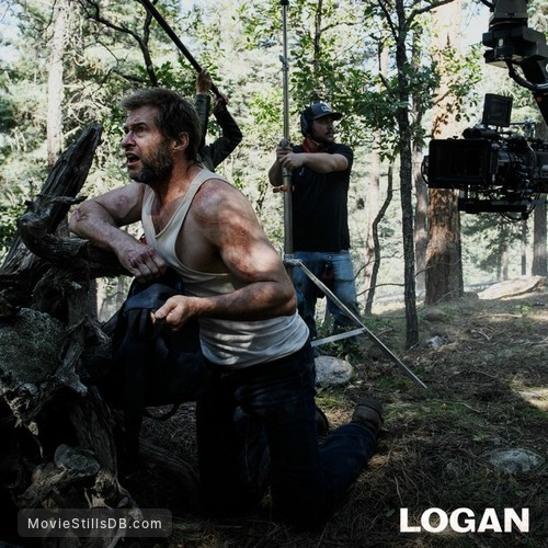 Logan - Behind the scenes photo of Hugh Jackman