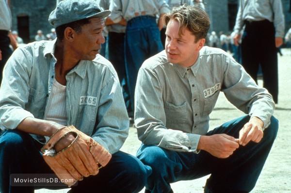 The Shawshank Redemption - Publicity still of Tim Robbins & Morgan Freeman