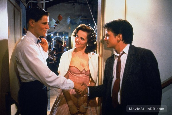 Back to the Future - Publicity still of Crispin Glover, Michael J. Fox & Lea Thompson