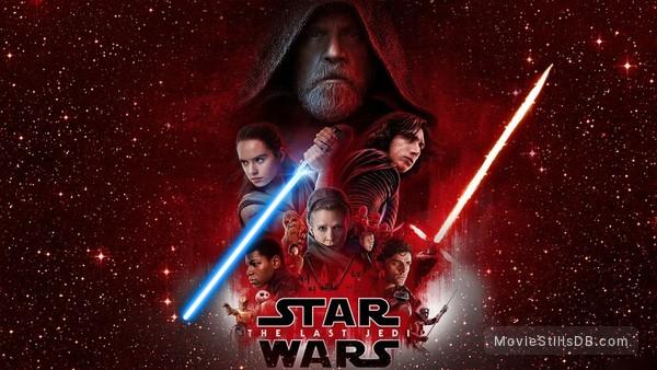 Star Wars: The Last Jedi - Promotional art with Mark Hamill, Daisy Ridley, Oscar Isaac, John Boyega, Kelly Marie Tran, Carrie Fisher, Adam Driver, Gwendoline Christie & Domhnall Gleeson
