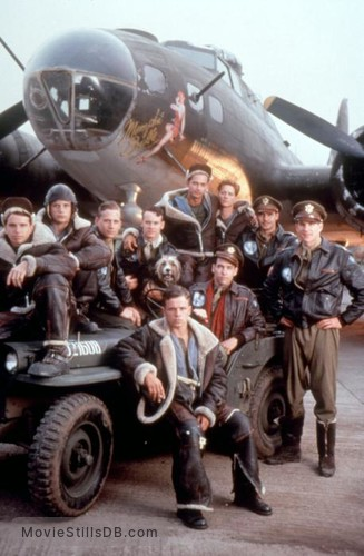 Memphis Belle - Publicity still of Courtney Gains, D. B. Sweeney, Tate Donovan, Neil Giuntoli, Harry Connick Jr., Eric Stoltz, Billy Zane, Matthew Modine & Reed Diamond