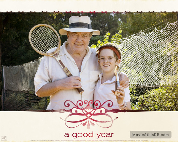 A Good Year - Wallpaper with Albert Finney & Freddie Highmore