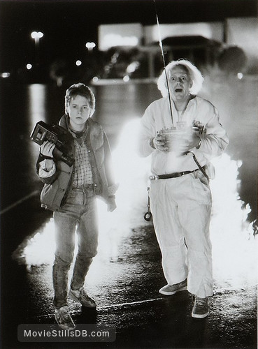 Back to the Future - Publicity still of Michael J. Fox & Christopher Lloyd