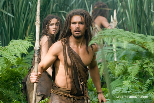 10,000 BC - Publicity still of Steven Strait & Camilla Belle