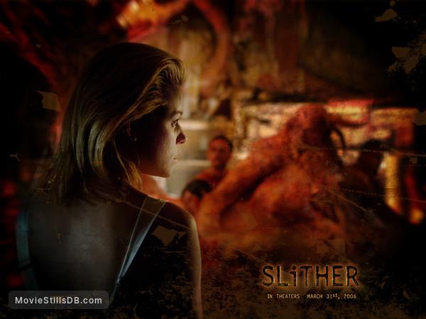Slither - Wallpaper with Elizabeth Banks & Michael Rooker