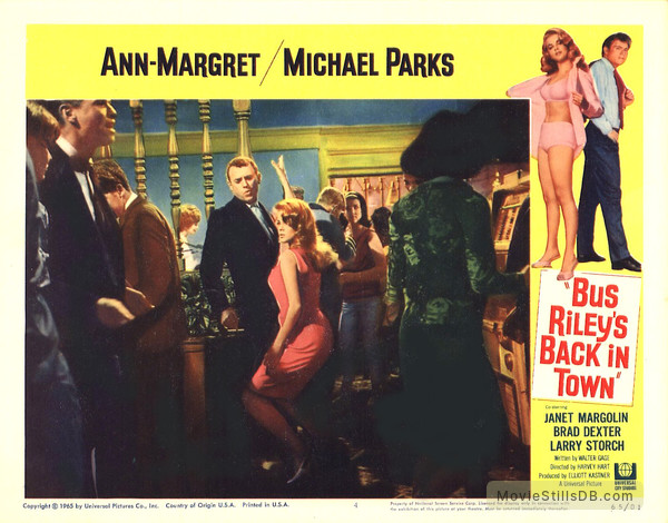 Bus Riley's Back in Town - Lobby card with Ann-Margret