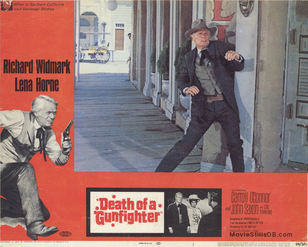 Death of a Gunfighter - Lobby card