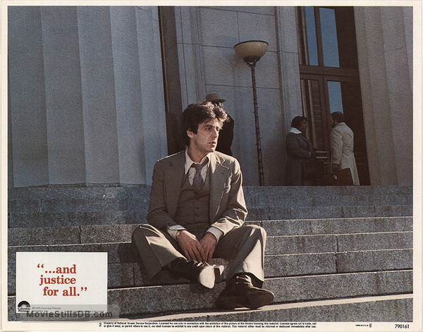 ...And Justice for All - Lobby card with Al Pacino