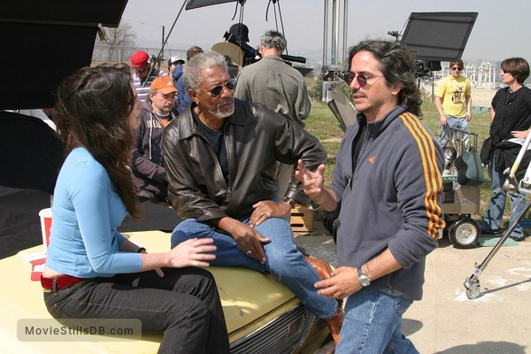 10 Items or Less - Behind the scenes photo of Brad Silberling & Morgan Freeman