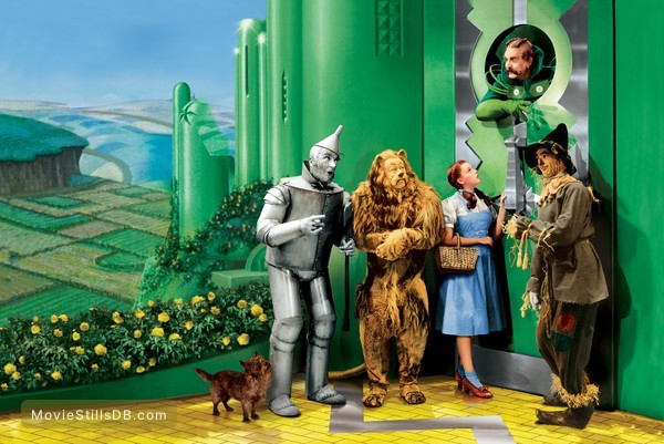 The Wizard of Oz - Promotional art with Judy Garland, Ray Bolger, Jack Haley, Bert Lahr & Frank Morgan