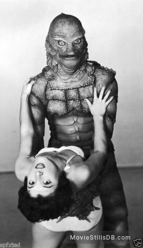Creature from the Black Lagoon - Promo shot of Ben Chapman & Julie Adams