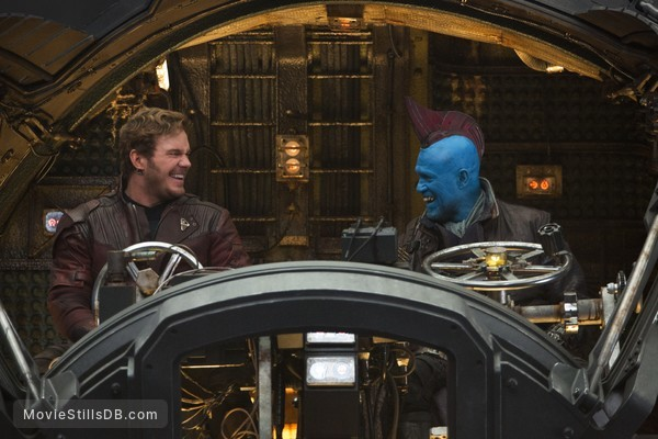 Guardians of the Galaxy Vol. 2 - Behind the scenes photo of Chris Pratt & Michael Rooker