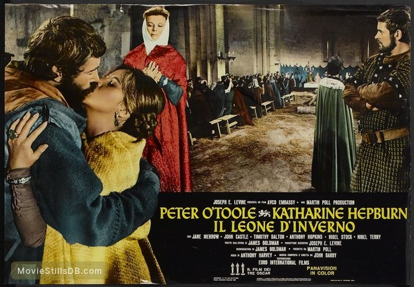 The Lion in Winter - Lobby card with Katharine Hepburn, Peter O'Toole, Anthony Hopkins & Jane Merrow