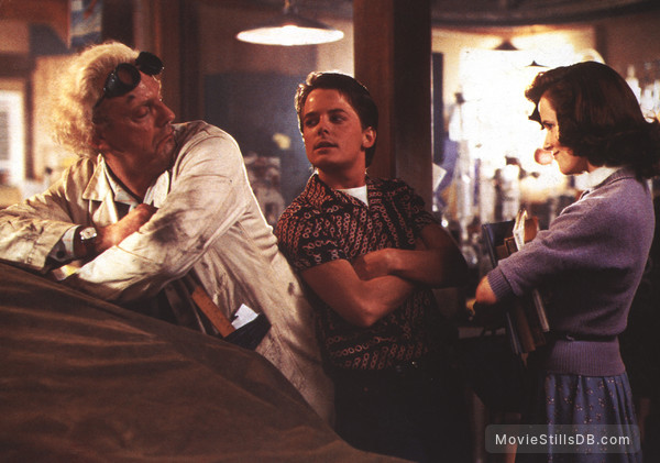 Back to the Future - Publicity still of Christopher Lloyd, Lea Thompson & Michael J. Fox