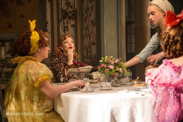 Cinderella - Publicity still of Cate Blanchett, Lily James & Sophie McShera