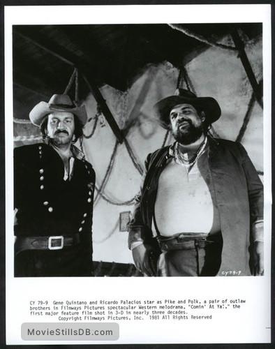 Comin' at Ya! - Publicity still of Gene Quintano & Ricardo Palacios