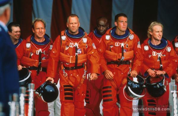 Armageddon - Publicity still of Steve Buscemi, Will Patton, Bruce Willis, Michael Clarke Duncan, Ben Affleck & Owen Wilson