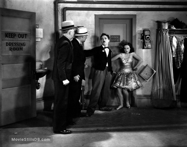 Modern Times - Publicity still of Paulette Goddard & Charlie Chaplin