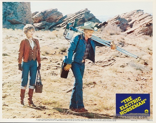 The Electric Horseman - Lobby card with Jane Fonda & Robert Redford