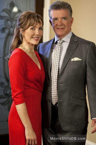A Cookie Cutter Christmas - Publicity still of Alan Thicke & Laura Soltis