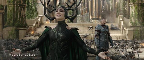 Thor: Ragnarok - Publicity still of Cate Blanchett & Karl Urban
