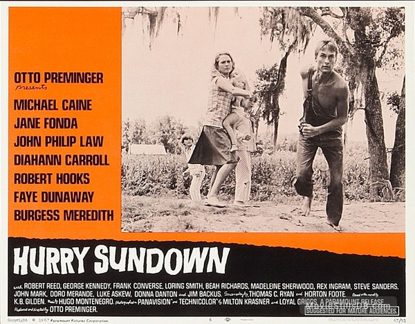 Hurry Sundown - Lobby card with John Phillip Law & Faye Dunaway