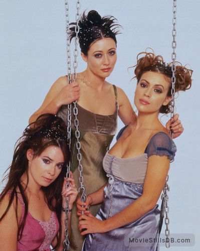 Charmed - Promo shot of Holly Marie Combs, Alyssa Milano & Shannen Doherty