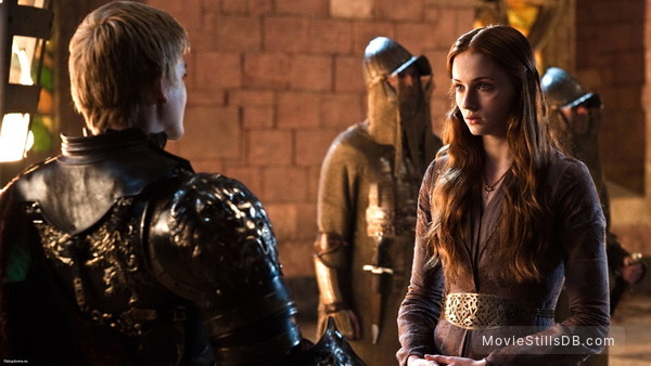 Game of Thrones - Publicity still of Jack Gleeson & Sophie Turner